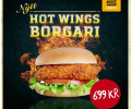Hot wings borgari - stakur