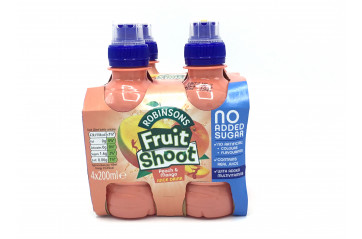 Fruit Shoot 4pk peach/mango 200ml