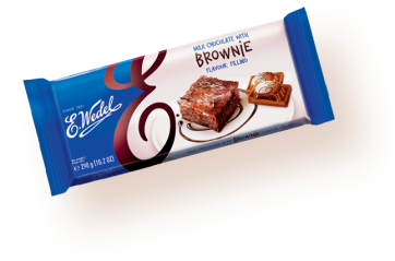 Pólsk Milk chocolate with brownie filling 290g