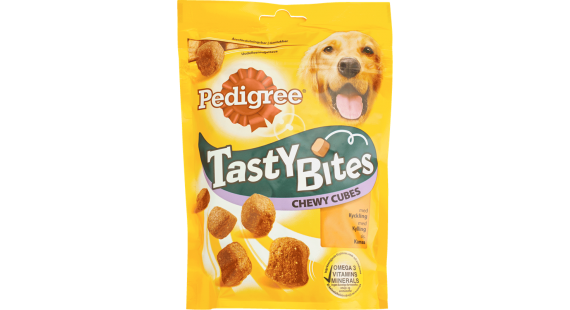 Pedigree Tasty Bites Chewy cubes 130g