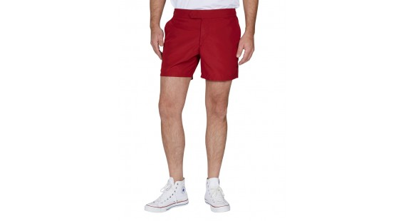 Solid Flatfront Swim Shorts