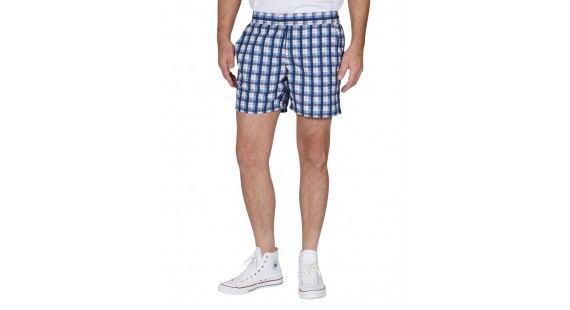 Check Flatfront Swim Shorts