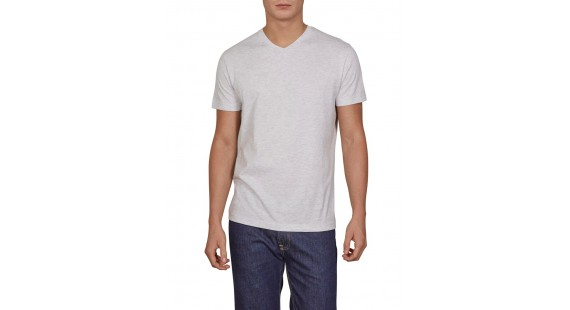 Basic Vee T-Shirt Grey Mel