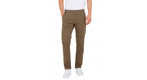 Chinos Stretch Slim Brown