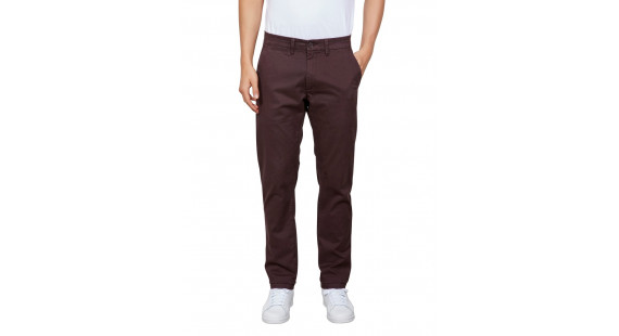 Chinos Stretch Slim Aubergine