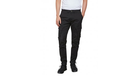 Cargo Stretch Pants Black