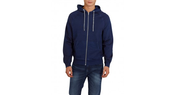 Sweat Hood Jacket Denim