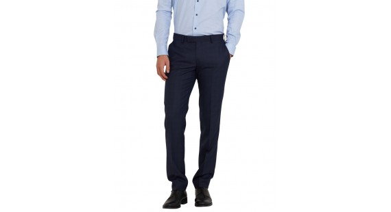 Trousers Easy Care Blue Check