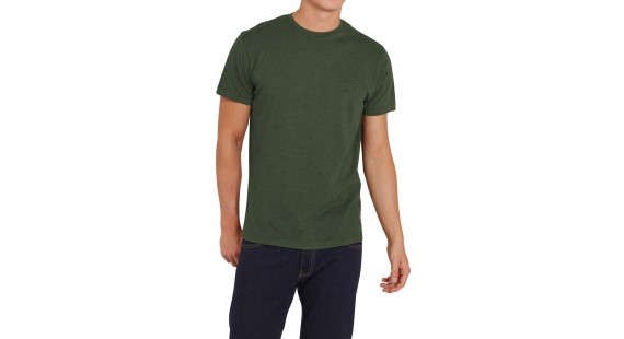 T-Shirt Solid M. Green Melange