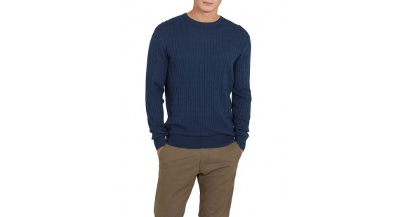 Sweater Cotton Cable Blue