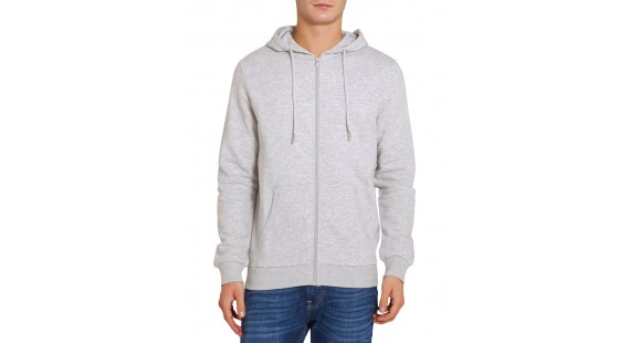 Jacket Zip Hood Lt. Grey
