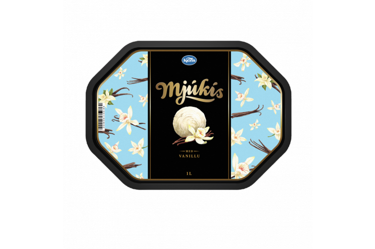 Kjörís soft vanilla Ice cream 1 ltr.