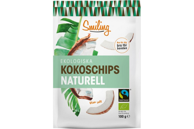 Smiling Coconut chips Natural 100g