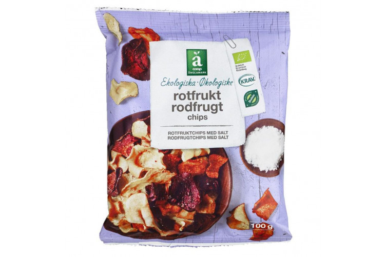 Anglamark root vegetable snack 100g