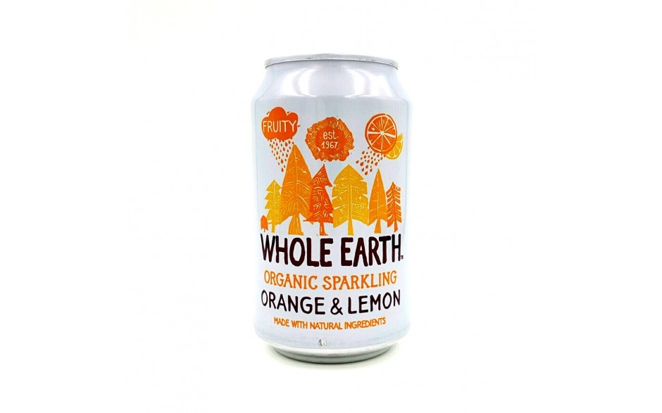 Whole Earth Soda Orange / Lemon 330ml