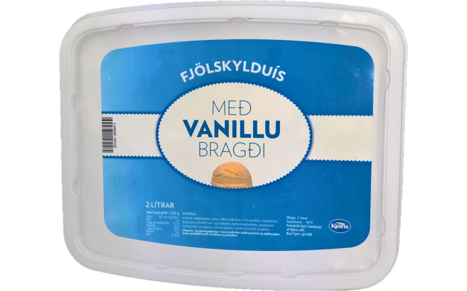 Kjörís Family Ice cream with vanilla 2L