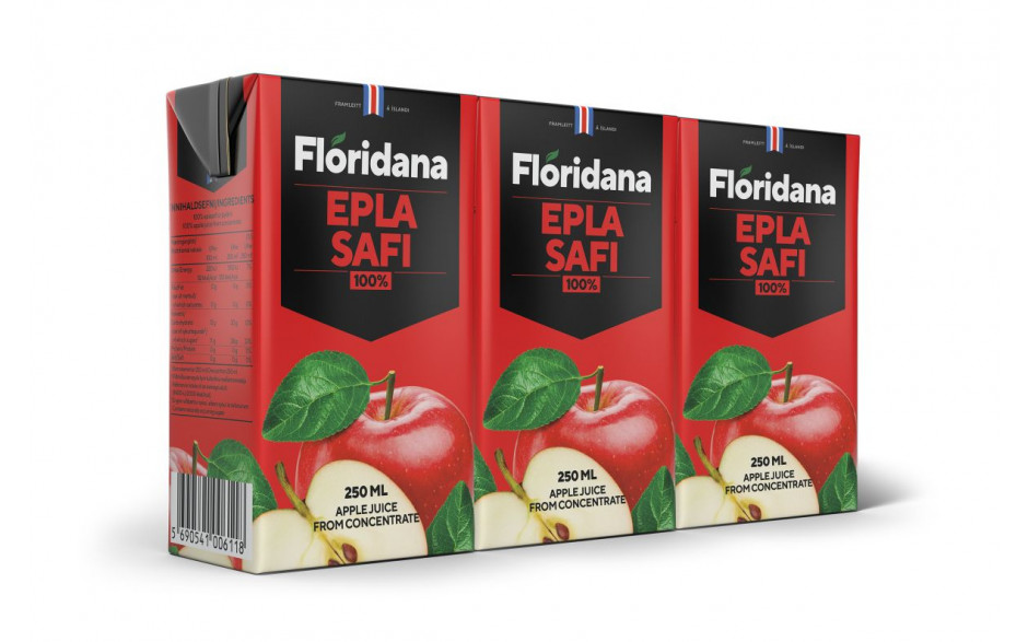 Flóridana Apple Juice 250ml,3pk