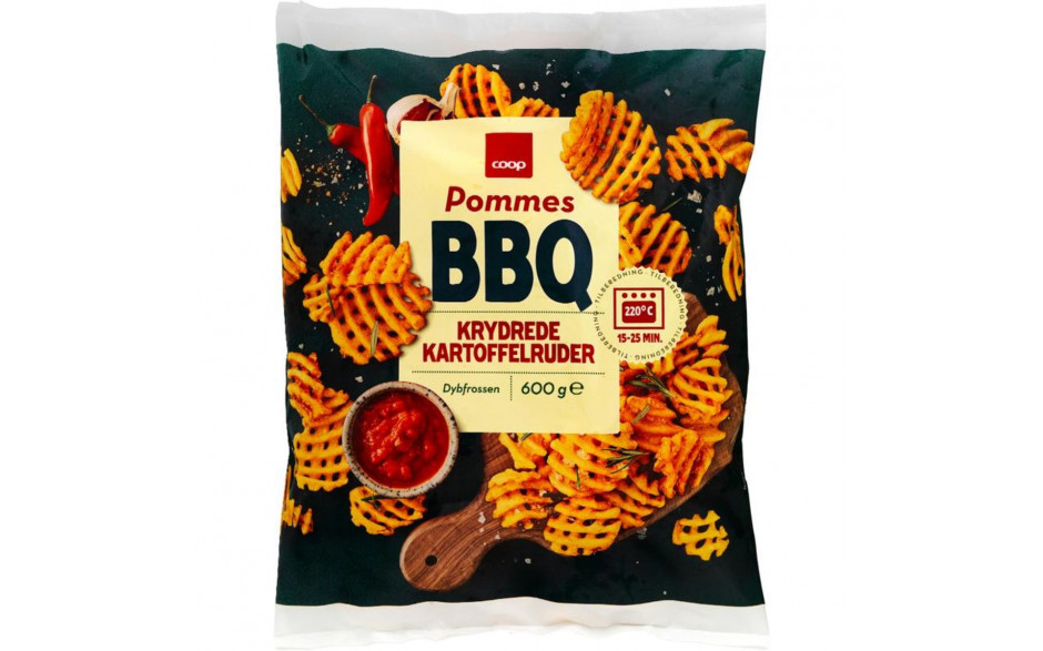 Coop BBQ Waffle Fries 600g