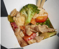 303. Chicken with mixed vegetables, chili, garlic and ginger
