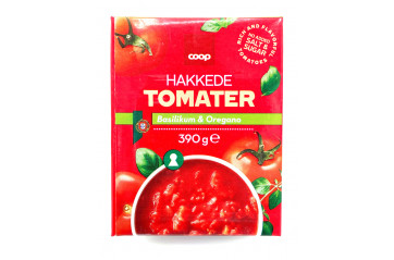 Coop Chopped Tomatoes with herbs 390 gr