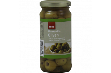 Coop Pitted Green Olives 230g