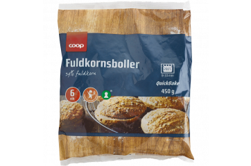 Coop bread buns wholemeal with Durum 6 pcs 450 gr