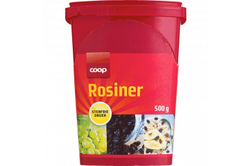 Coop Raisins 500g can