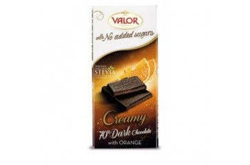 Valor chocolate P. 70% SF mousse orange 100g