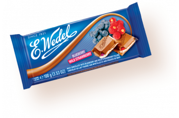 Polish Milk chocolate with strawberry / blueberry 100g