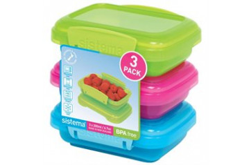 Sistema Plastic box colored 200ml 3pcs