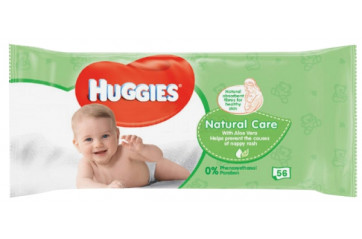 Huggies Wet Cloths 56pc Nat Care