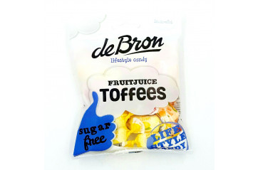 De Bron Fruit-Toffees Sugarfree 90g.