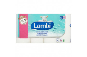 Lambi kitchen towel white 4pc
