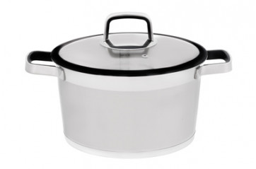 Maku steel pot 5.2L with lid