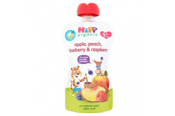 Hipp pouch peach, apple, blueberries, raspberries 100g