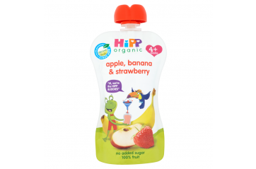 Hipp pouch apple, strawberry, banana 100g