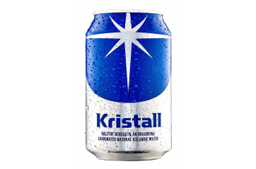 Kristall sparkling water 33cl can