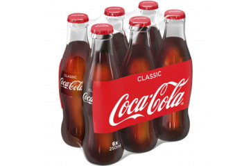 Coca Cola 6x25cl glass