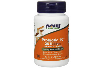 Now Probiotic-10 25 Billion 50 Veg Capsules