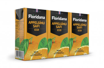 Flóridana Orange juice 250ml, 3pk