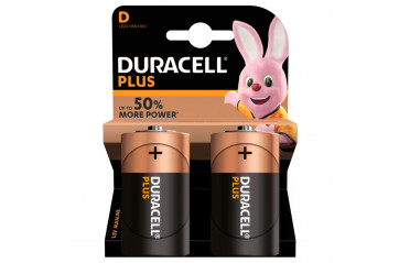 Duracell Plus Power D 2-Pc
