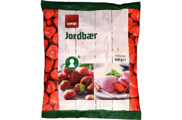 Coop frozen strawberries 400 gr