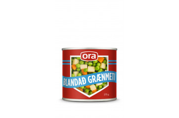 Ora mixed vegetables 1/4 a can