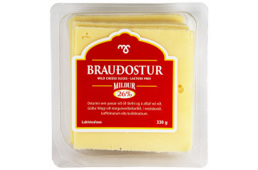 MS Brauðostur Cheese Slices 330g