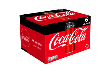 Coca Cola Zero 6x33cl can