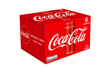 Coca Cola 6x33cl can