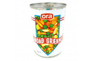 Ora mixed vegetables 1/2 can