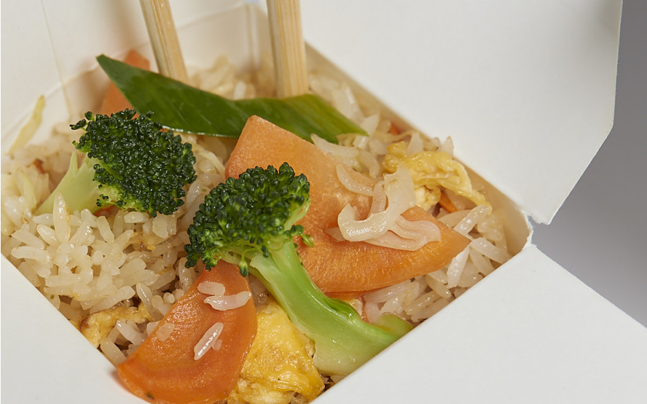102. Fried rice with eggs and vegetables
