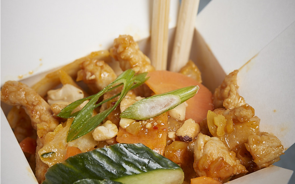 034. Chicken and vegetables with satay sauce