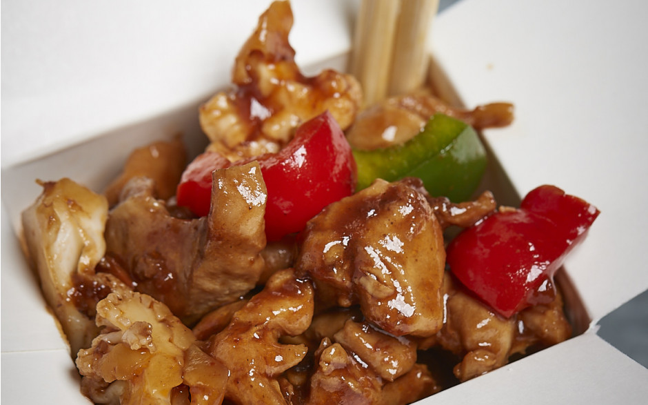035. Chicken and vegetables with cashew nuts in Nings dragon sauce